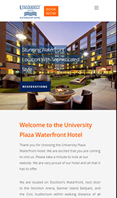 university plaza waterfront hotel responsive